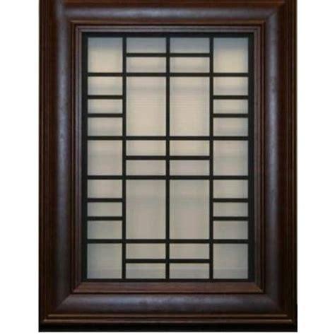 brown rectangular designer wooden window grill rs