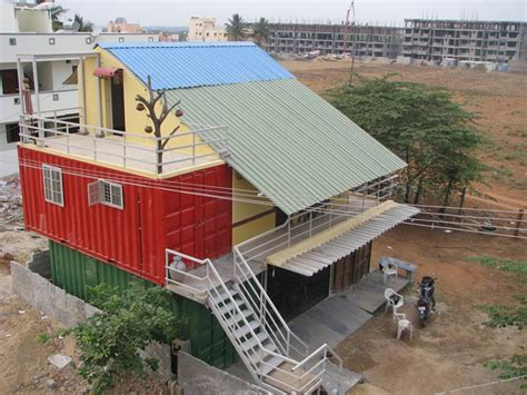 Eco House Designs And Floor Plans by India S 1st Container Home At Bangalore Container