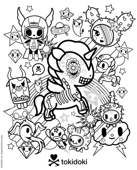 tokidoki coloring pages tokidoki colouring page tokidoki
