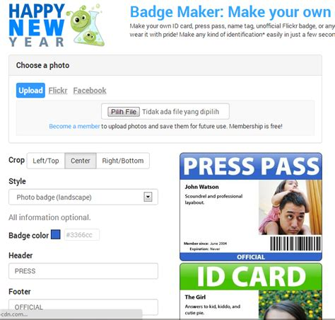 membuat kartu nama sendiri online cara membuat badge kartu nama dan id card online hariez