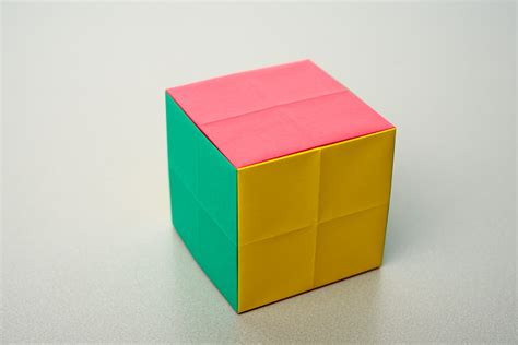 Paper Folding Cube - folding challenges maths org