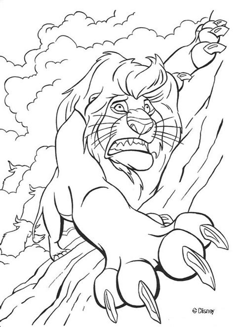 Mufasa in trouble coloring pages - Hellokids.com