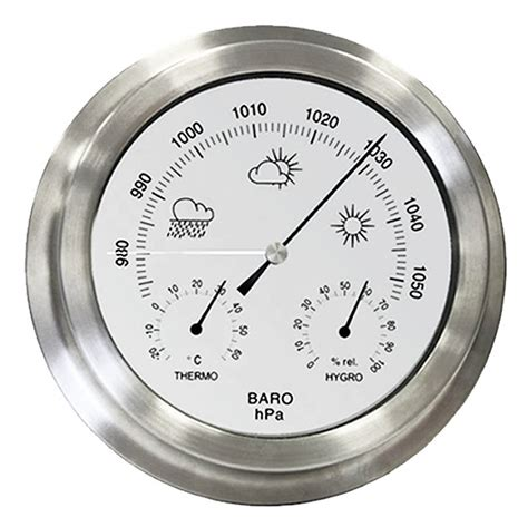 new indoor outdoor barometer weather station stainless