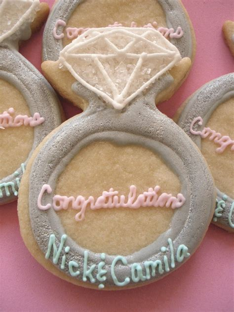 Bridal Shower Favors Cookies by Engagement Ring Cookies Wedding Shower Favors Bridal