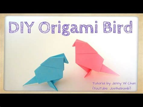 Origami Bird Tutorial - diy origami bird tutorial paper crafts easter crafts