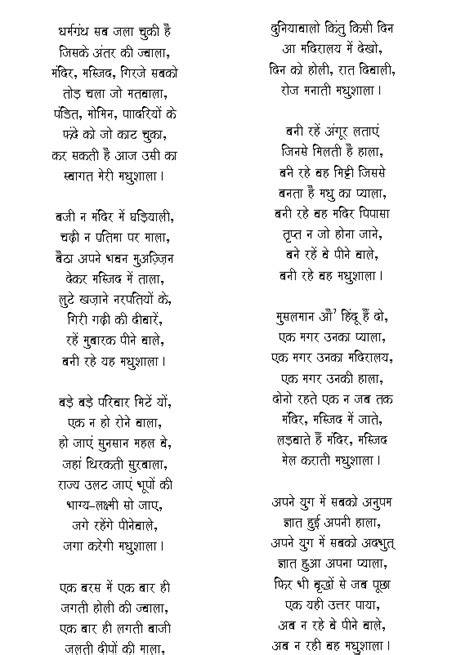 harivansh rai bachchan poems madhushala chorbajaar