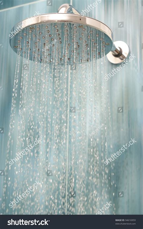 Shower While by Shower While Running Water Stock Photo 94616959