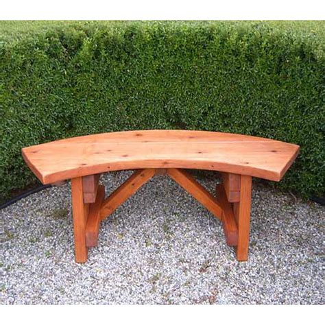bench outside curved wooden bench for garden and patio homesfeed