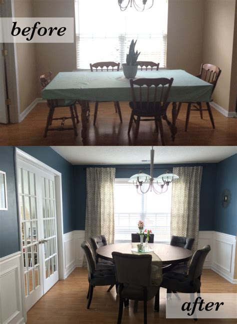 room before and after dining room before after