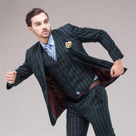 Striped Suit Blazer new 2015 luxury mens wedding striped suits contain blazer