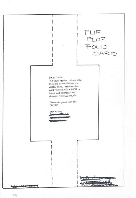 Scs Swing Flip Flop Card A Blog By Kath Kathy Harney Flip Flop Card Template