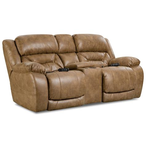 Homestretch Enterprise Casual Power Reclining Console Homestretch Reclining Sofa