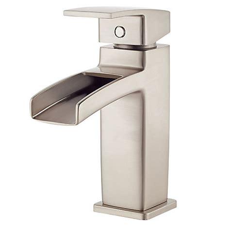 brushed nickel kenzo single trough bath faucet lg42 df0k pfister faucets