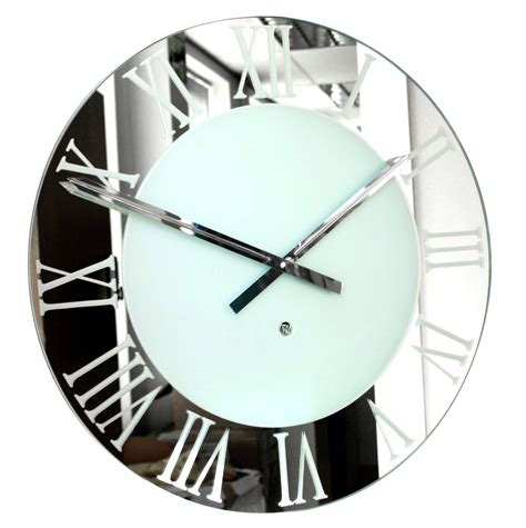 top 28 mirrored wall clock xl 60 quot mirrored