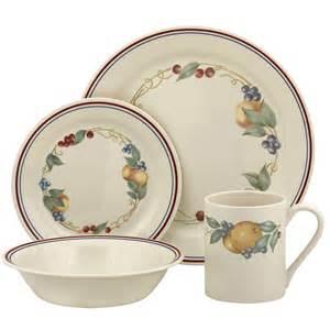Corelle Plates Corelle Impressions Abundance 16 Piece Dinnerware Set