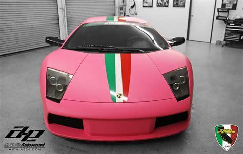 matte pink car matte pink lamborghini murcielago for italian stede