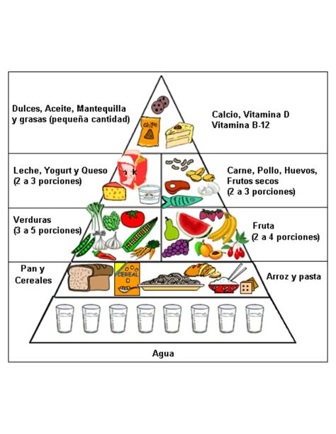 piramides de los alimentos piramide alimenticia