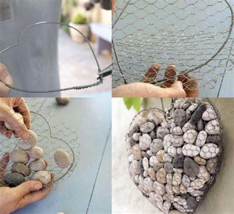 deko aus draht selber machen gartendeko selber machen 6 kreative ideen aus flusssteine