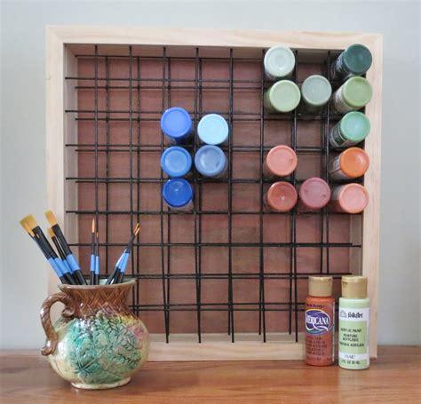 Acrylic Paint Holder Rack by Paint Storage Rack Holds 81 2oz Craft Paint Bottles Paint Rack