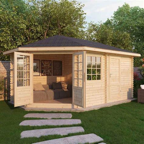 shedswarehouse oxford log cabins 5m x 3m ohio corner log cabin single glazing free
