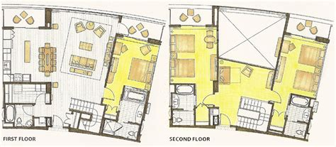 bay lake tower one bedroom villa floor plan bay lake tower at disney s contemporary resort dvc rentals