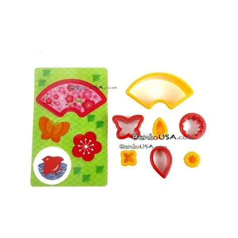 Japanese Ham Cheese Food Bento Cutter Panda Buterfly Flower japanese bento decoration vegetable cutter set 7pcs with baran all things for sale