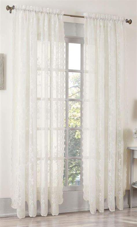 lace curtains swags galore curtains alison lace curtain ivory view all curtains