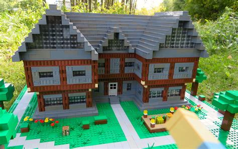 lego minecraft house lego minecraft steve s house youtube