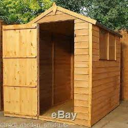 6 By 4 Wooden Sheds 6x4 Garden Shed Single Door Apex Wooden Sheds Overlap Clad