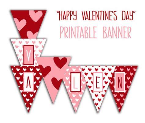 printable heart banner happy valentine s day banner valentine party printable