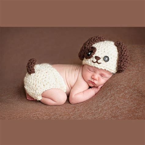 puppy costume for baby aliexpress buy baby infant knitted puppy costume set newborn photo props