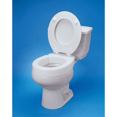 elevated toilet seat maxiaids hinged elevated toilet seat standard