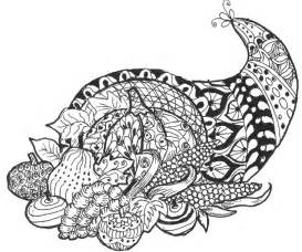 thanksgiving coloring pages for adults coloring page thanksgiving cornucopia 6