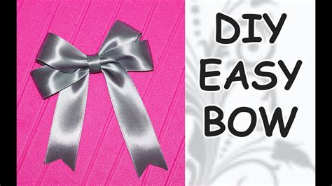 How To Make A Ribbon Bow Out Of Paper - diy easy diy cfrafts diy ribbon bow how to make a
