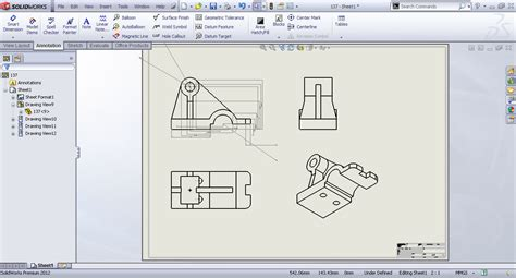 solidworks tutorial files tutorial generating drawing from the existing part in