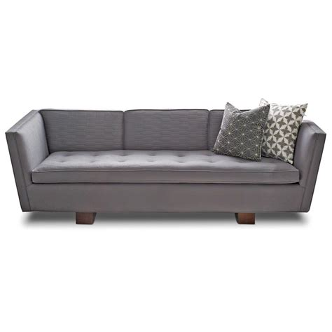 grey linen sofa maeve hollywood regency grey linen upholstered sofa