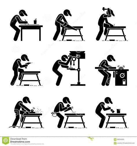 werkstatt clipart carpenter woodworking clipart stock vector illustration