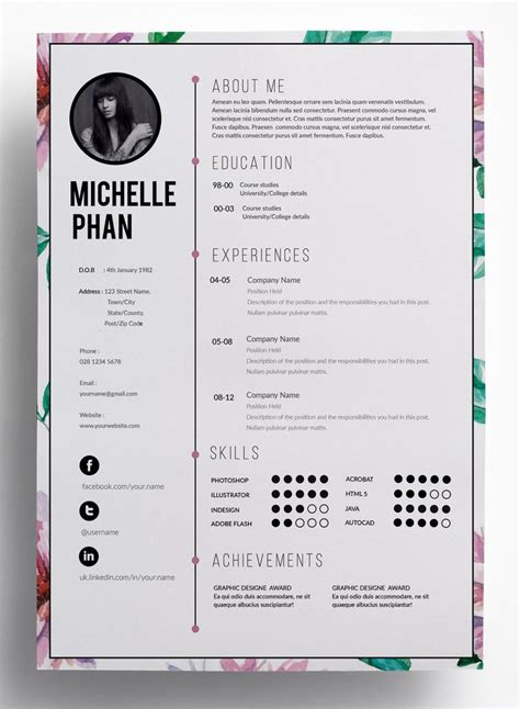 resume best of creative resume templates for microsoft word high