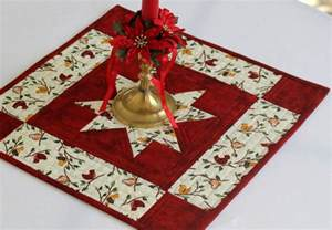 Bar Coasters quilted winter candle mat table mat christmas table topper
