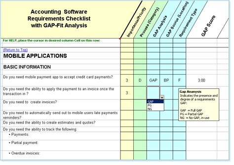 requirements gap analysis template software requirements checklist fit gap analysis
