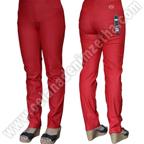 Celana Zetha Denim Warna Burgundy Size celana zetha denim warna cabe celana denim zetha