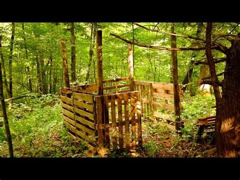 Tree Ground Blind Building A Shipping Pallet Hunting Blind Part 1 Youtube