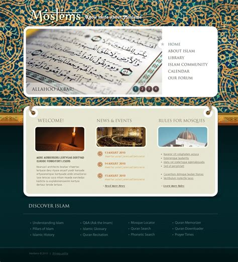islam website template 28338