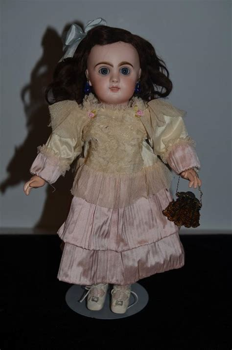 jumeau bisque doll antique doll bisque bebe jumeau small cabinet size