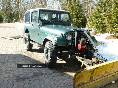 Plow Jeep 1984 Jeep Cj7 4 2l 6 Cyl Fiberglass Tub With Western