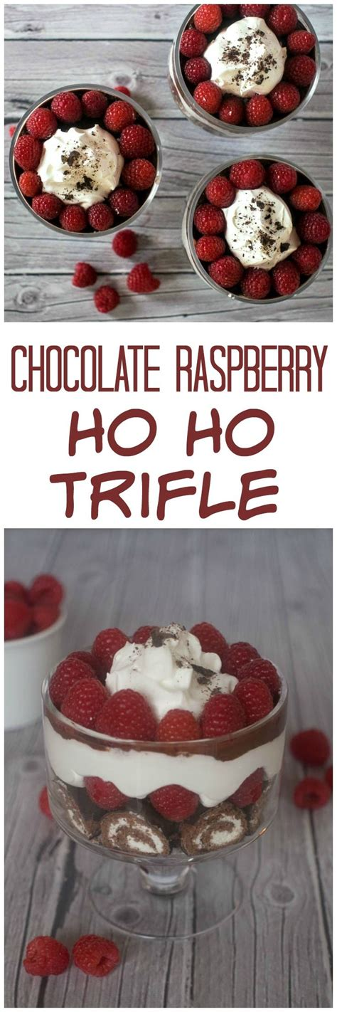 15 Ingredients And Directions Of Chocolate Raspberry Trifle Receipt by Best 20 Ho Ho Cake Ideas On Chocolate Roll