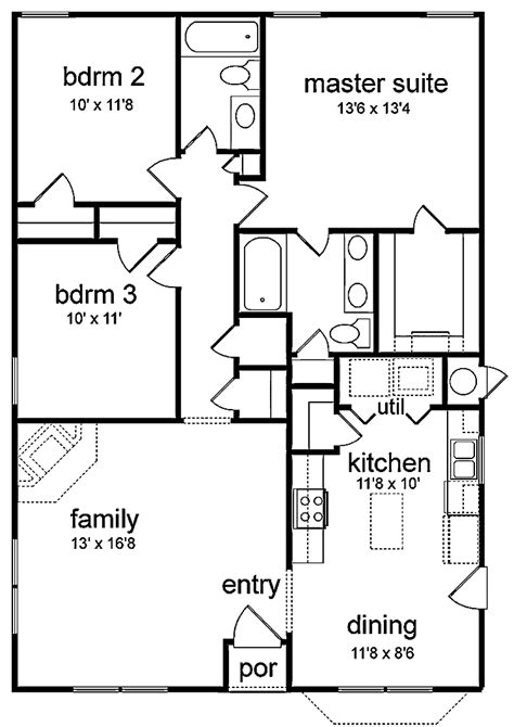 three bedroom house plan 301 moved permanently