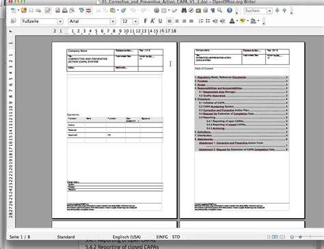 capa report template corrective and preventive capa