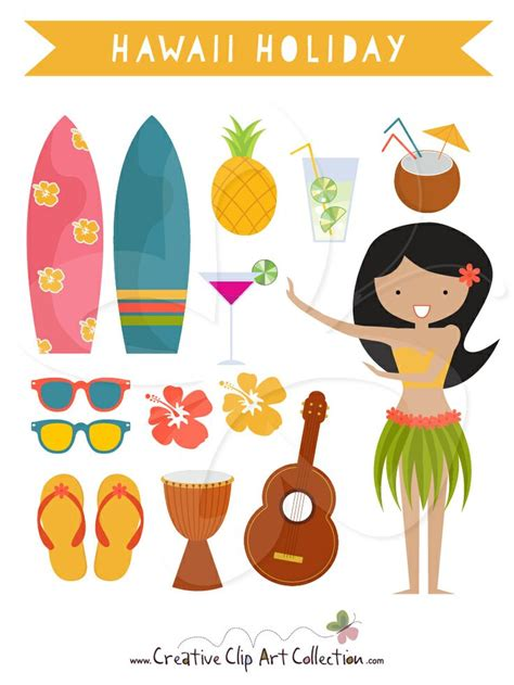 aloha clipart craft projects holidays clipart clipartoons a cute hawaii holiday clip art clipart set with a hula