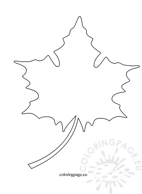 maple leaf cut out template maple leaf cut out pattern coloring page